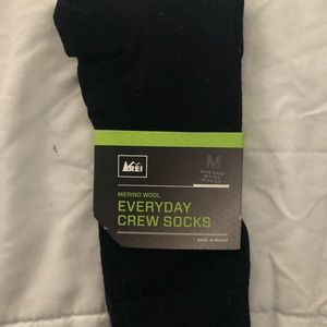 Black crew socks from REI